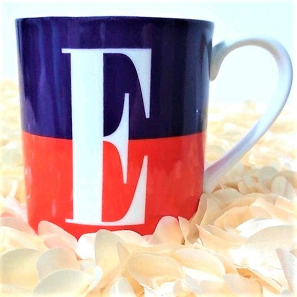 """Kate Spade Lenox """"E"""" Monogram Mug"""